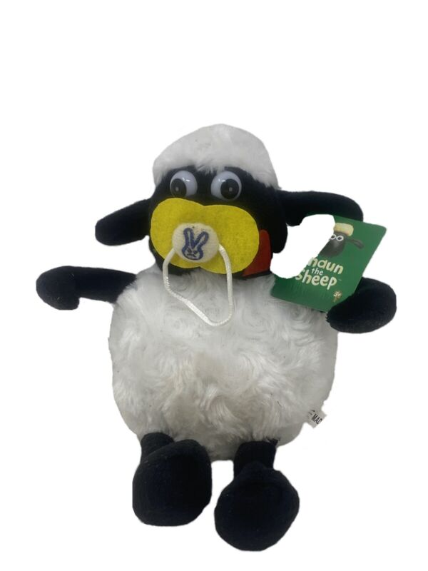 Shaun The Sheep Baby With Pacifier Plushie Toy Doll With Suction Cup New W Tag!