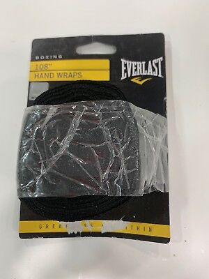 Everlast Classic Hand Wraps 108 Inches 1 Pair Black Model 4455BP Boxing MMA NEW