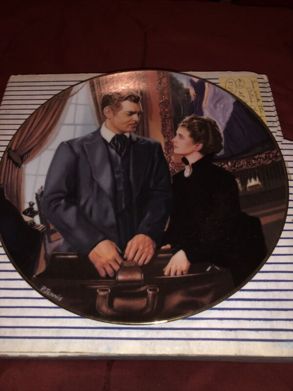 Gone With The Wind Bradford Exchange At Cross Purposes Decorative Plate 1993