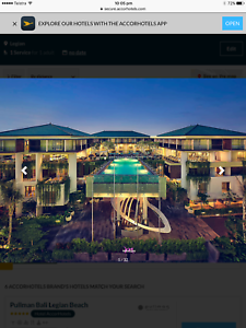 Bali accomodation package 19-30th April The Mecure Legion Dampier Roebourne Area Preview