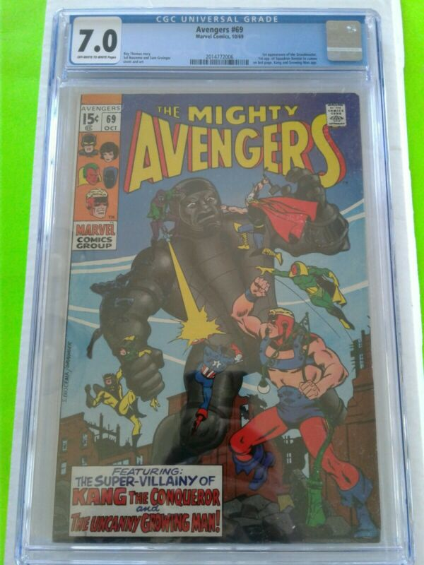 AVENGERS #69 CGC 7.0 FN/VF 1ST APPEARANCE GRANDMASTER KEY ISSUE SILVER AGE