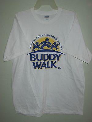 Buddy Walk T-Shirt Large National Down Syndrome Society Short Sleeve 2008 Buddy Short Sleeve T-shirt