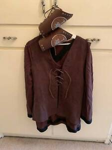 Lord Of The Rings Lotr Aragorn Costume Cosplay Fancy Dress tunic