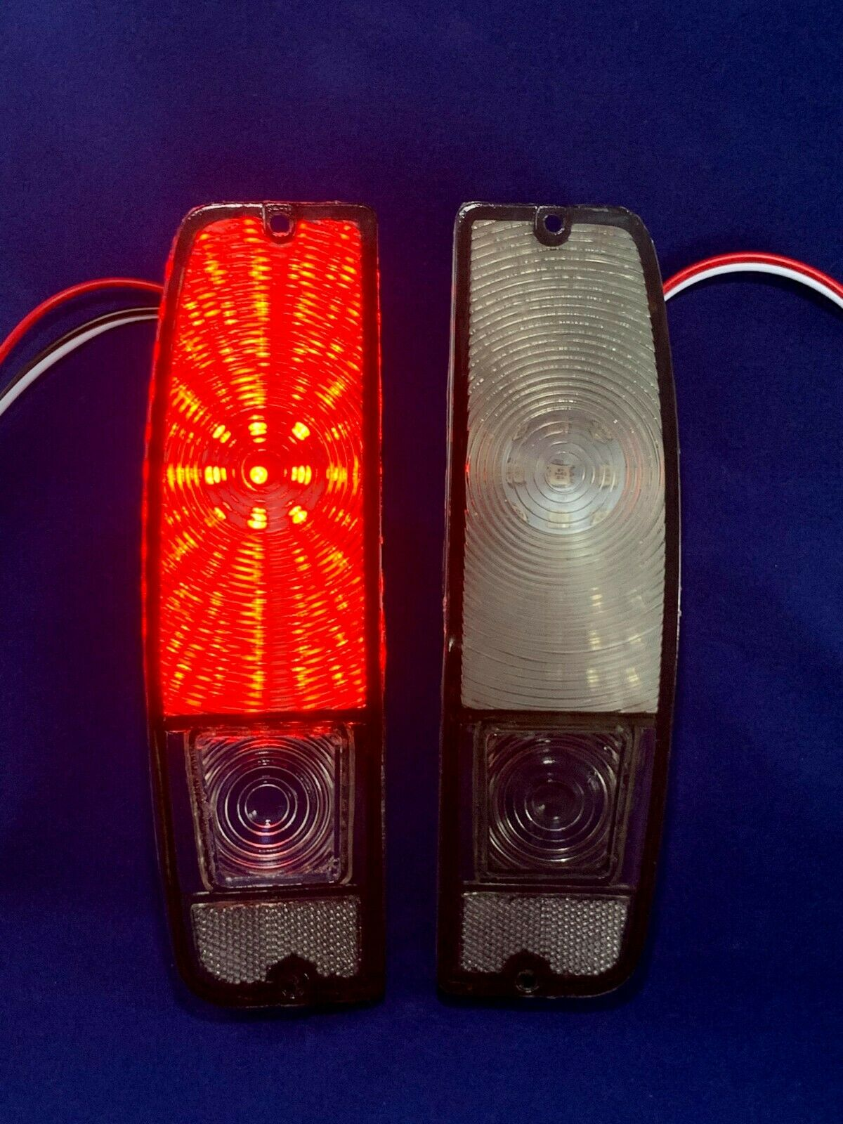 Smoke Tail Light lenses with LED board 67-72 Ford Truck f100 & 67-77 Bronco