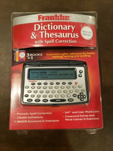 Franklin MWD-460 Merriam-Webster Dictionary & Thesaurus w/ Spell Correction NEW!