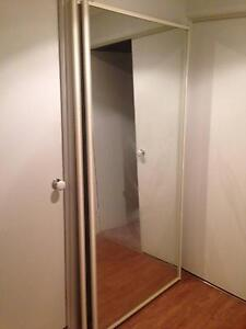 Wardrobe sliding mirrored doors - 2010mm x 950mm x 2 Berkeley Vale Wyong Area Preview