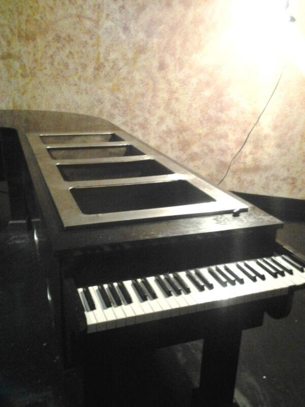 Custom piano design buffet table