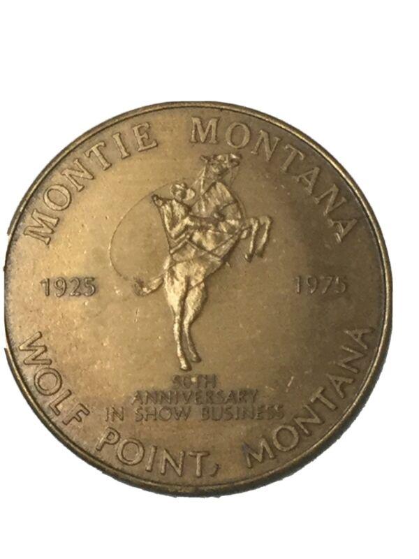 1975 Souvenir Trade Dollar Assinaboine-Sioux/Montie Montana 1925-1975