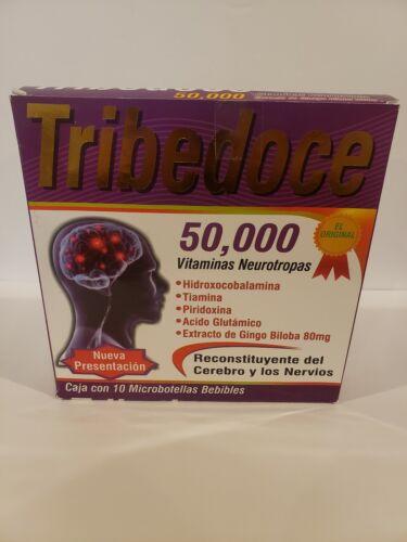 """TRIBEDOCE 50,000(10 Ampolletas 15ml) """"Reconstituyente del Cerebro y los Nervios"""""""