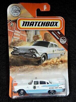 Matchbox 2020 Case U - '59 Dodge Coronet Police Patrol Car - Blue/White - NEW