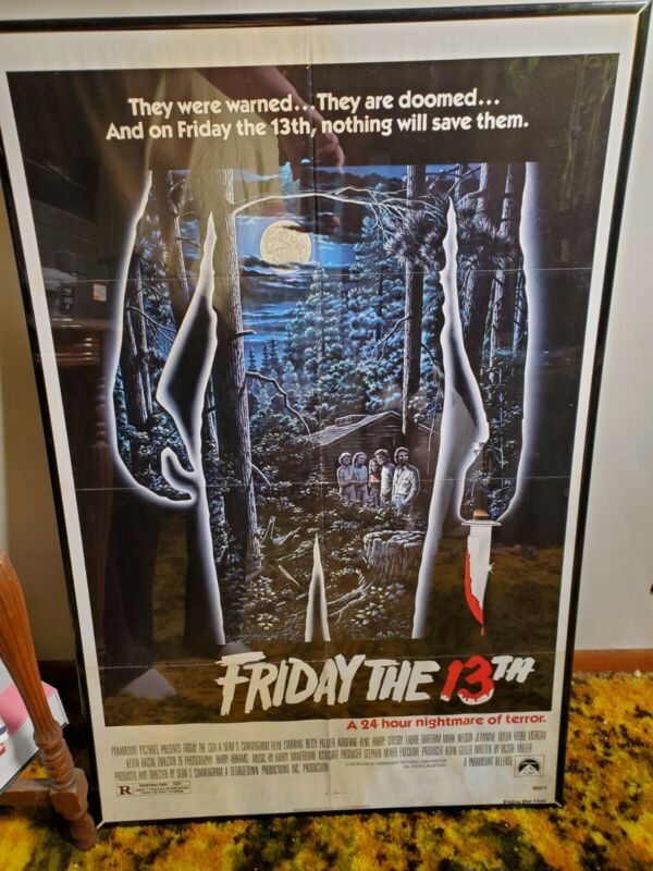 FRIDAY THE 13TH AUTHENTIC 27X41 Movie Poster