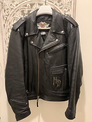 HARLEY DAVIDSON MEN'S WILLIE G SKULL RELIC LEATHER JACKET XL 97148-07VM