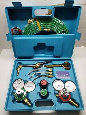 Oxygen Acetylene Welding Cutting Kit Type Torch Brazing Soldering Oxy Kit...