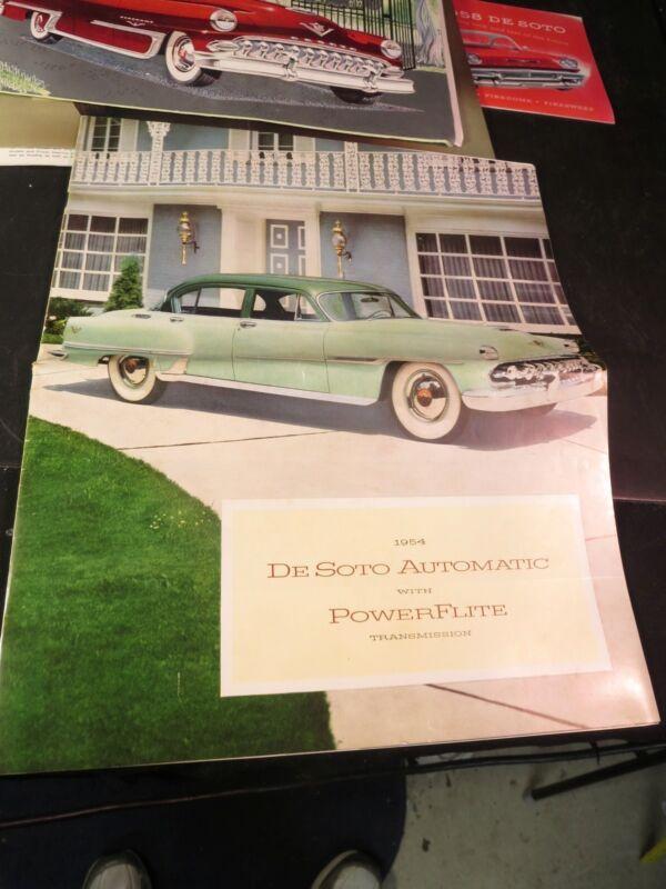 1954 De Soto Automatic 20 page Brochure w/ Post Card
