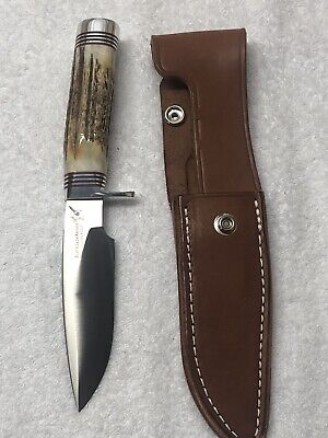 USA Made BlackJack Knives Classic Blade Model 125 With Sambar Stag Handle
