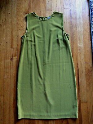 - *NWT* J Jill Laurel Spring Green Dress size 10 Crepe Sheath Avocado
