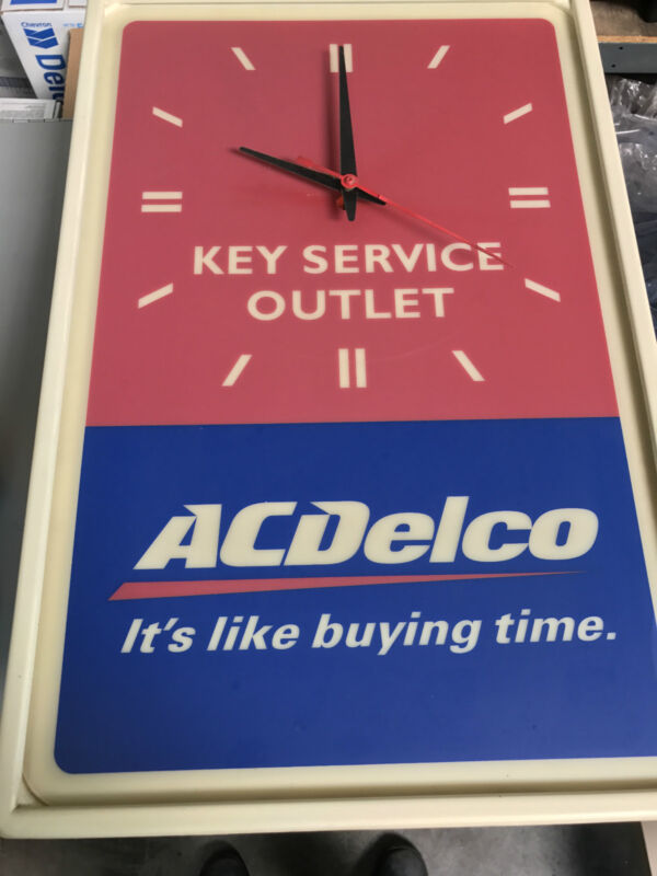 Vintage AC Delco Clock - Key Service Outlet **Rare**