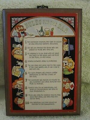 Rules Of The Bar Wooden Wall Plaque 8