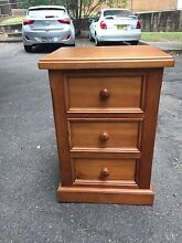 Wooden bedside table Mosman Mosman Area Preview