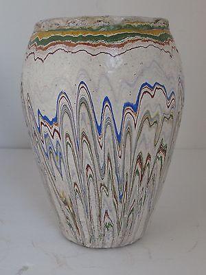 """Vintage Drip Glaze ROADSIDE  POTTERY Vase / Pot 10 1/2"""""""