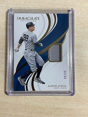 2019 Immaculate Baseball Aaron Judge Jersey /99 #5181