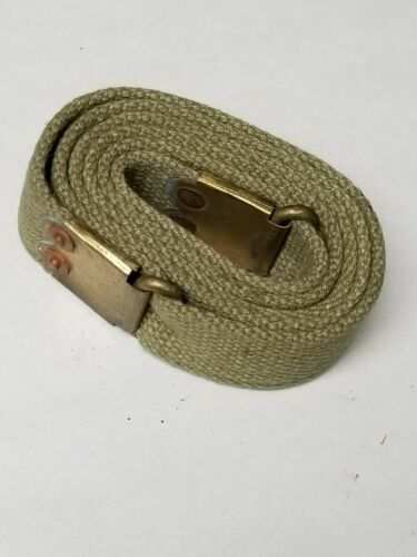 ENFIELD O.D. CANVAS SLING WITH BRASS BUCKLES.