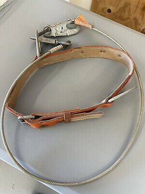 Klein Model 5442 Lineman Safety Belt Size Medium With Tether Cable Climbing