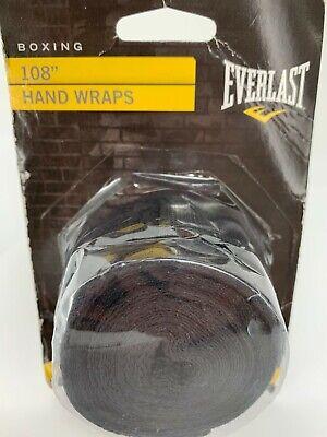 Everlast Hand Wraps 108 BOXING Training Gloves Shadow Black NEW - $10.95