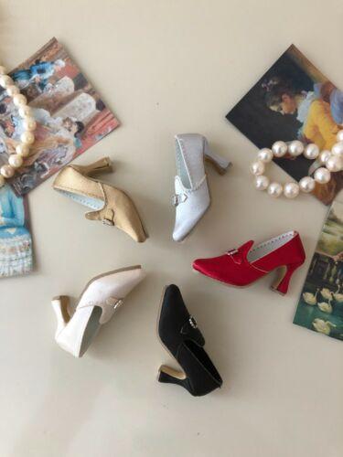 """Satin Court Shoes for 16"""" Tonner doll Ellowyne Antoinette Cami Tyler Sydney Gene"""