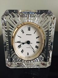 Staiger Crystal Table Clock Roman Numerals  w/Quartz Movement - Made In Germany