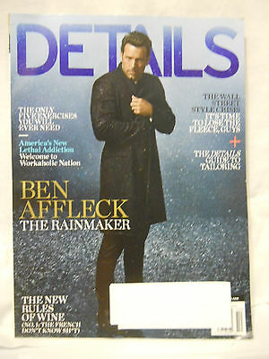"DETAILS Magazine BEN AFFLECK Cover ""The Rainmaker"" OCTOBER 2014 Issue"