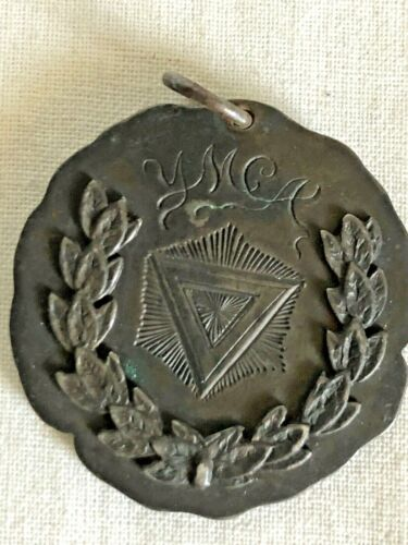 YMCA Sports Medal Vintage 1910's (?) 2nd Place 20 Yard Dash