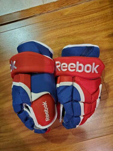 "Reebok 11K 14"" Montreal Canadiens Pro Stock Hockey Gloves"