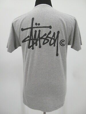 L6287 VTG Stussy Basic Logo Signature Short-Sleeve T-Shirt Size M