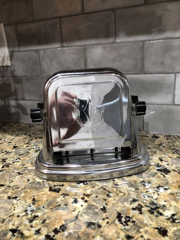 ANTIQUE  ART DECO BERSTED  DOUBLE SIDED TOASTER