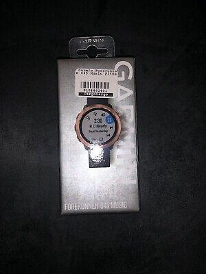 New, Garmin Forerunner 645 Music Running Watch 010-01863-23 - Black & Rose Gold