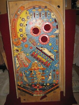 Vintage Coney Island Pinball Playing Field Game Plan, Inc.1979 Man Cave Wall Art