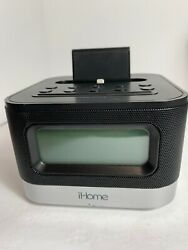 iHome IPL8BN Stereo FM Clock Radio With Lightning Dock for iPhone 5 5s 6 6