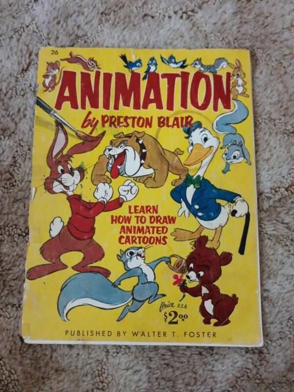 Vintage Animation by Preston Blair How to Draw animated cartoon characters book