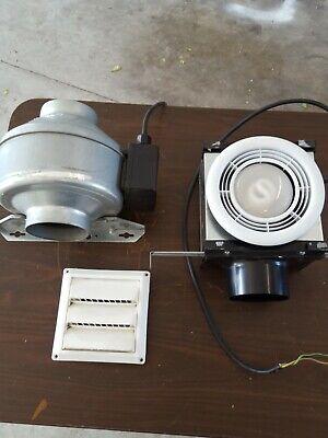 Fantech Exhaust Fan Kit Runs 4 Light Box With Intake.needs Bulb. Grill Wall