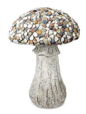 Dekofigur Pilz 31 cm Steinoptik Zierfigur für Haus und Garten Figur Magnesia