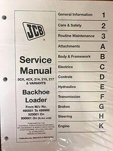 jcb service manual ebay rh ebay com jcb 1400b service manual pdf JCB 1400B Synchro Shift