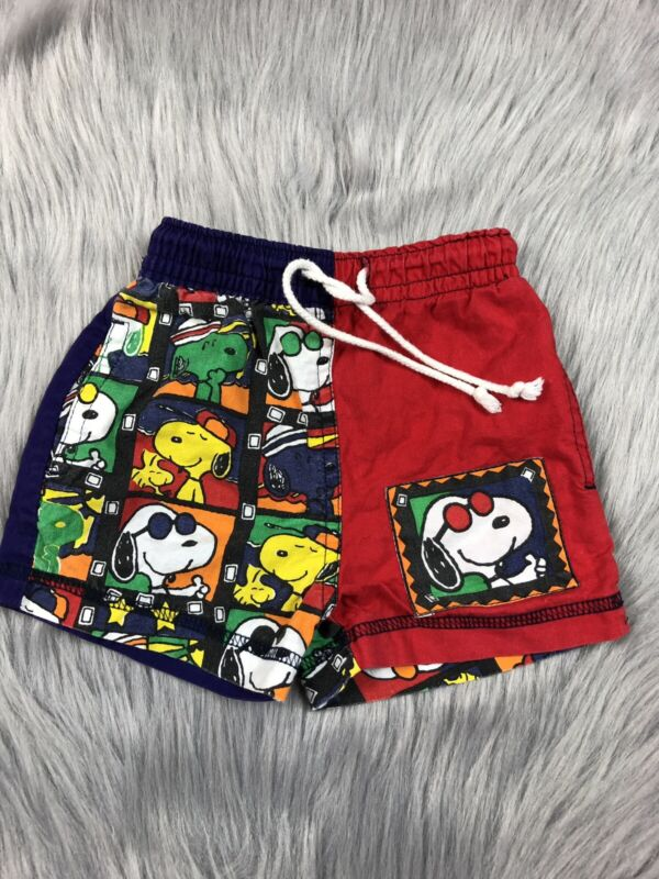 Vintage Baby Boys Snoopy Peanuts Joe Cool Swim Summer Shorts