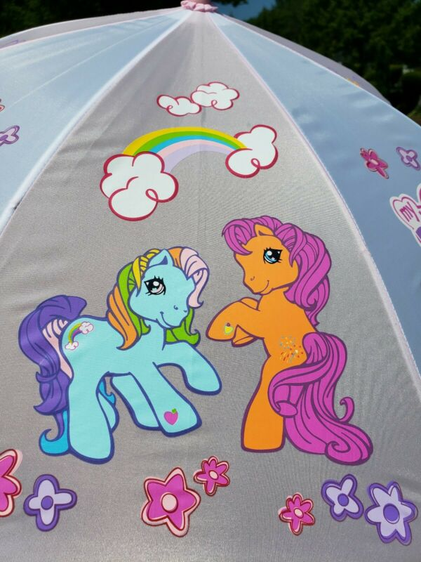 MY LITTLE PONY Umbrella Kids child 3D pony on Handle- LOT OF 2