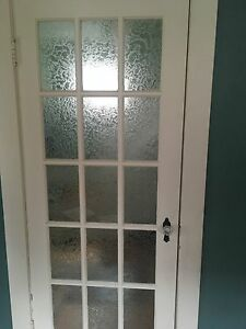 Antique glass door