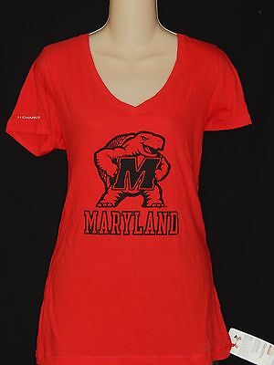 New Under Armour University Of Maryland Terrapins Womens T Shirt Top Size Large