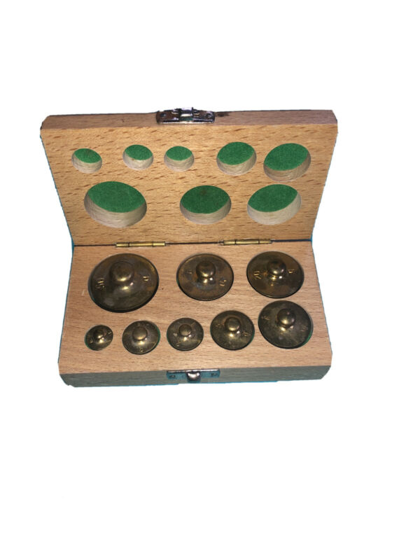Calibration brass weight 8 piece set