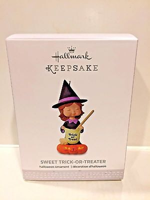 HALLMARK  KEEPSAKE 2017 ORNAMENT HALLOWEEN SWEET TRICK OR TREATER WITCH  NEW](Halloween Trick Or Treaters 2017)