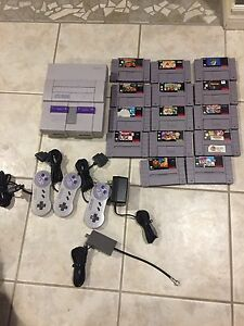 Super Nintendo with 14 games!