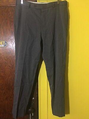 Brooks Brothers Men's Gray Pure Wool Pleat Slim Dress Slacks Pants size 36 / 30